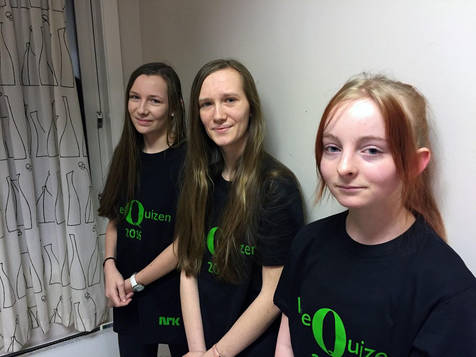 Karen Alfsnes Larsen, Ragnhild Alfsnes Larsen og Julie Skoglund fra Vårtun kristne oppvekstsenter i Levanger fikk 8 poeng.