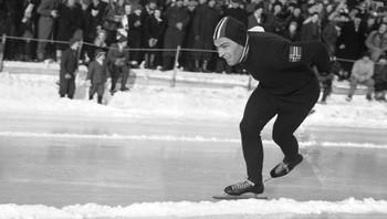 Sverre Farstad under EM på skøyter i 1948 på Hamar
