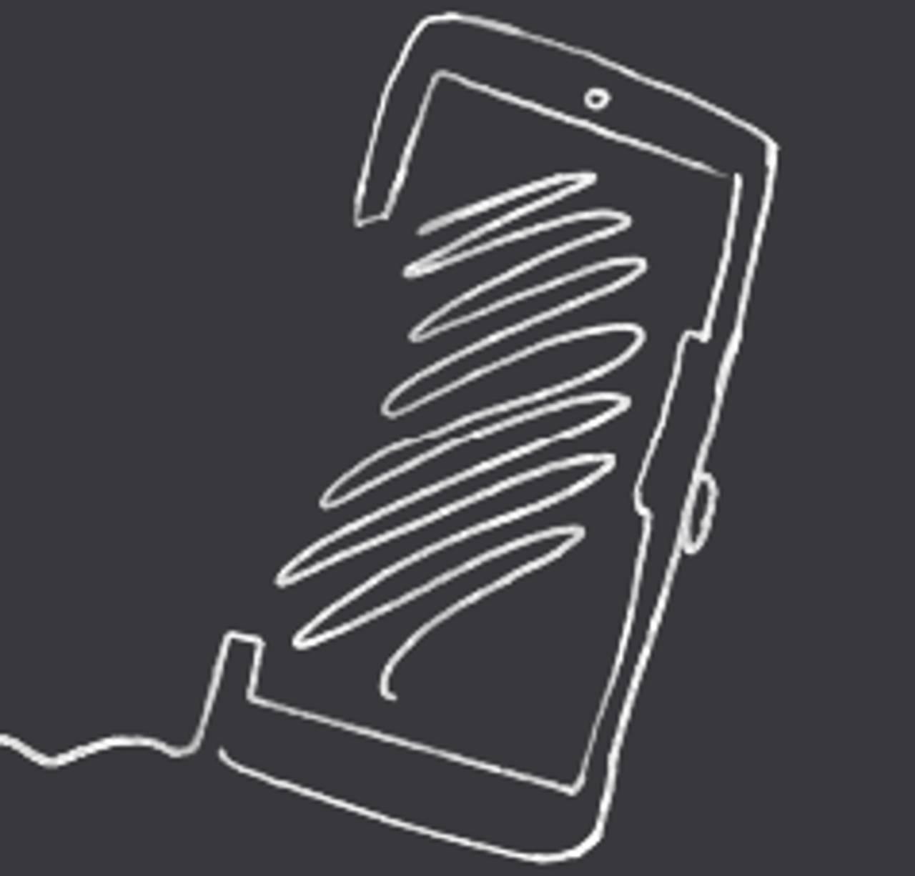 Illustrasjon av en mobil