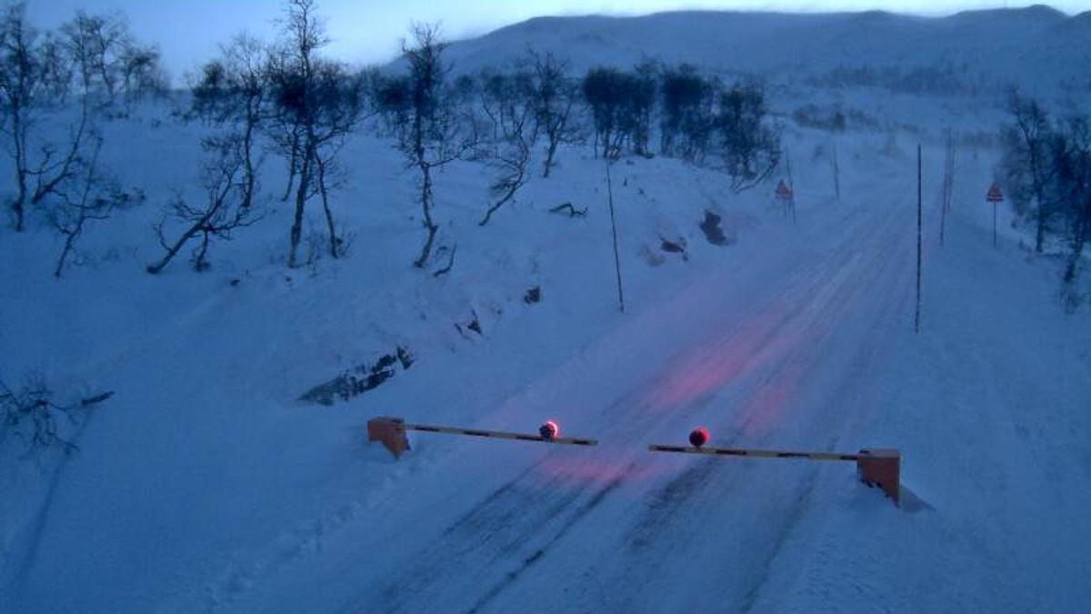 Leiro bom på riksveg 7 opp mot Hardangervidda.