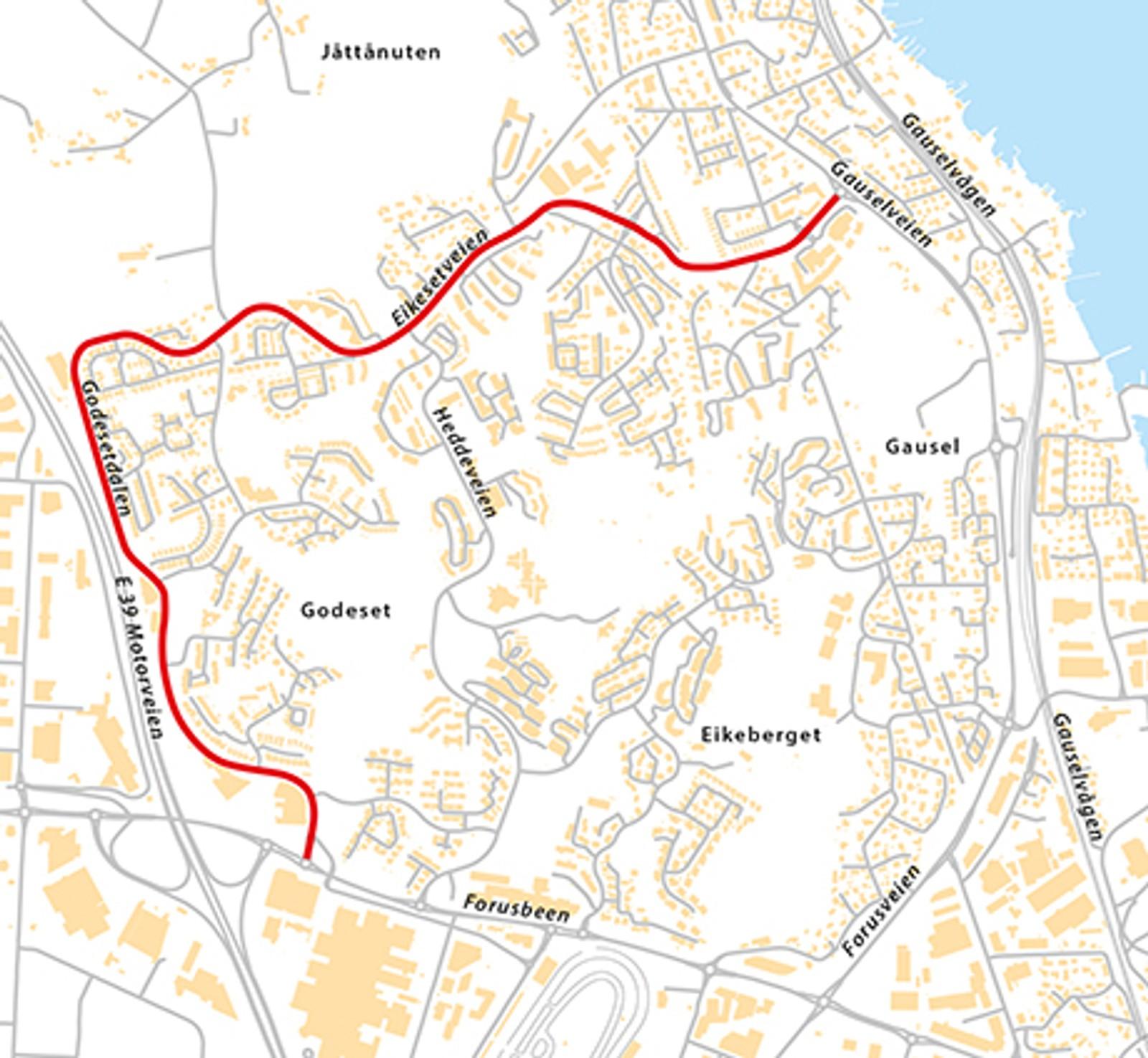 Eikesetveien/Godesetdalen (Fv448), natt til tirsdag 5. mai.