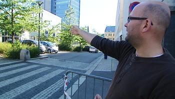 Andreas Olsen på Hammersborg torg