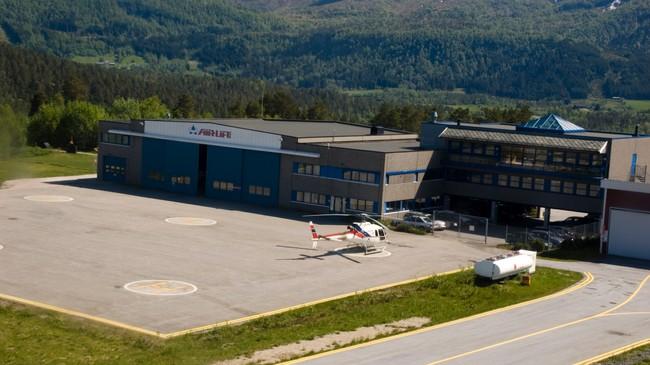 Hovudkvarteret til Airlift på Bringeland. Foto: Merete Husmo Høidal, NRK.