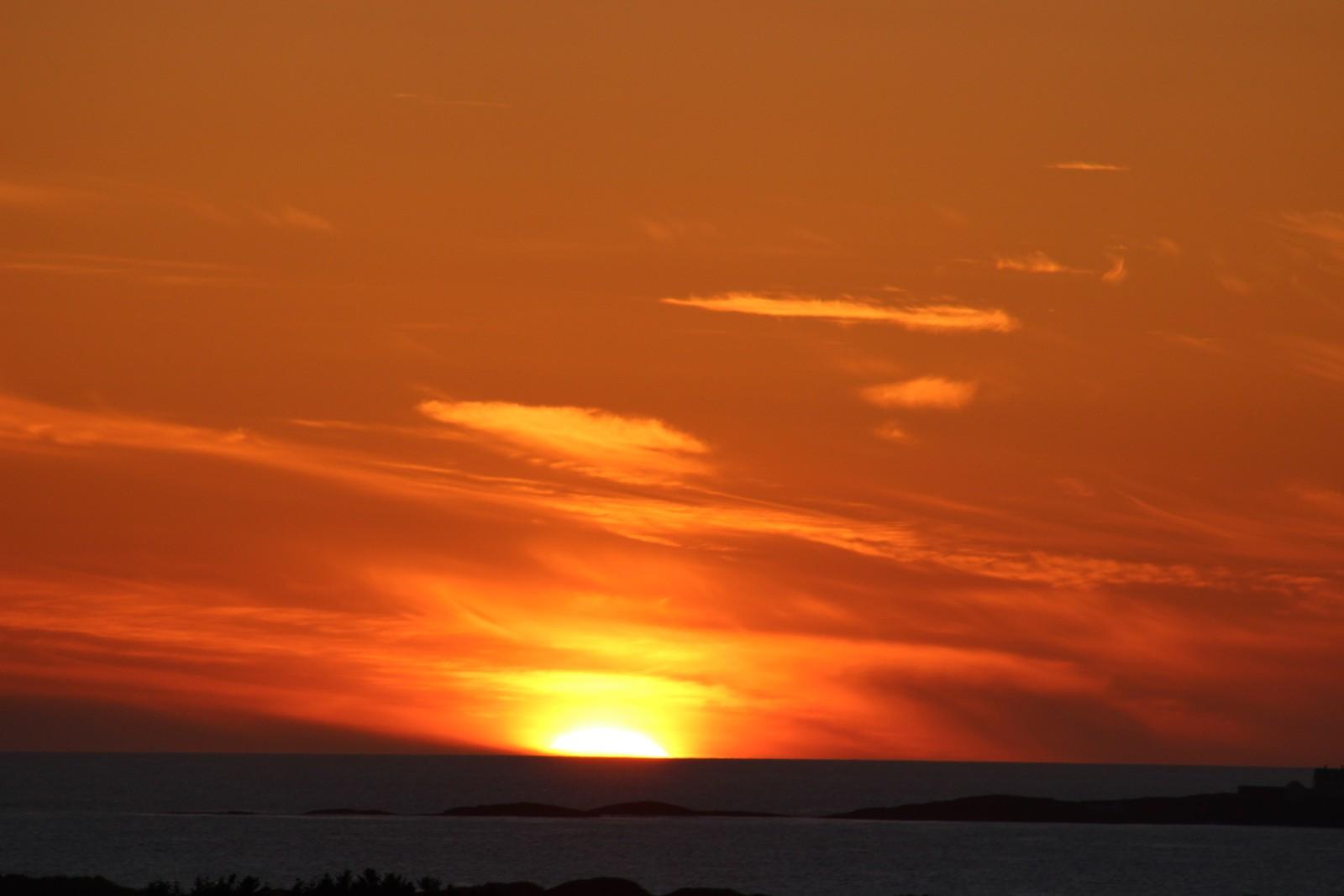 Solendgangen sett fra Bore i Klepp.