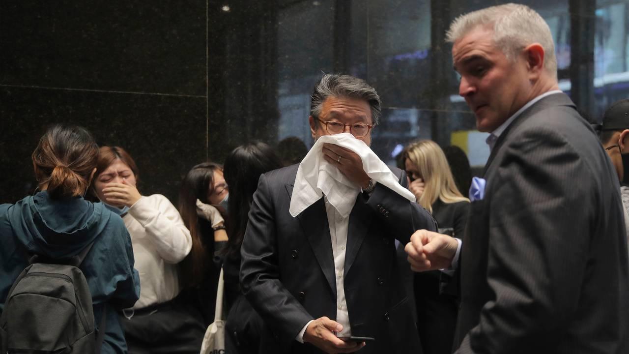 Tåregass i Hongkong mandag 11. november 2919.
