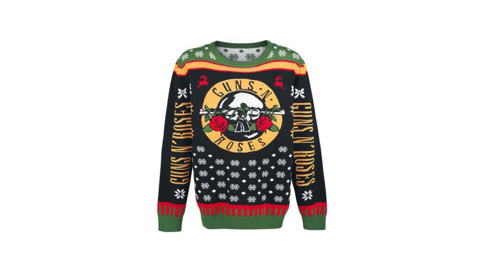 Med både pistoler, roser, snøfnugg og reinsdyr på genseren, er det verken tvil om hvilket band som er din favoritt eller hvilken høytid det er.