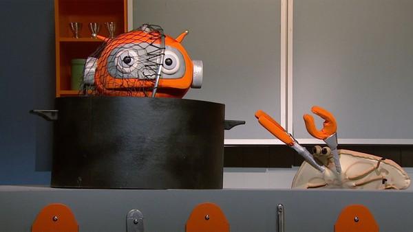 Norsk dukkeserie. (35)I dag får Kikkan vise seg fram på kjøkkenet - han skal koke krabbe, og historien om Roddes liv før tv-showet fortsetter med del 2. Programledere: Rodde (Håvard Lilleheie) og Kikkan (Linda Mahala Mathiassen).