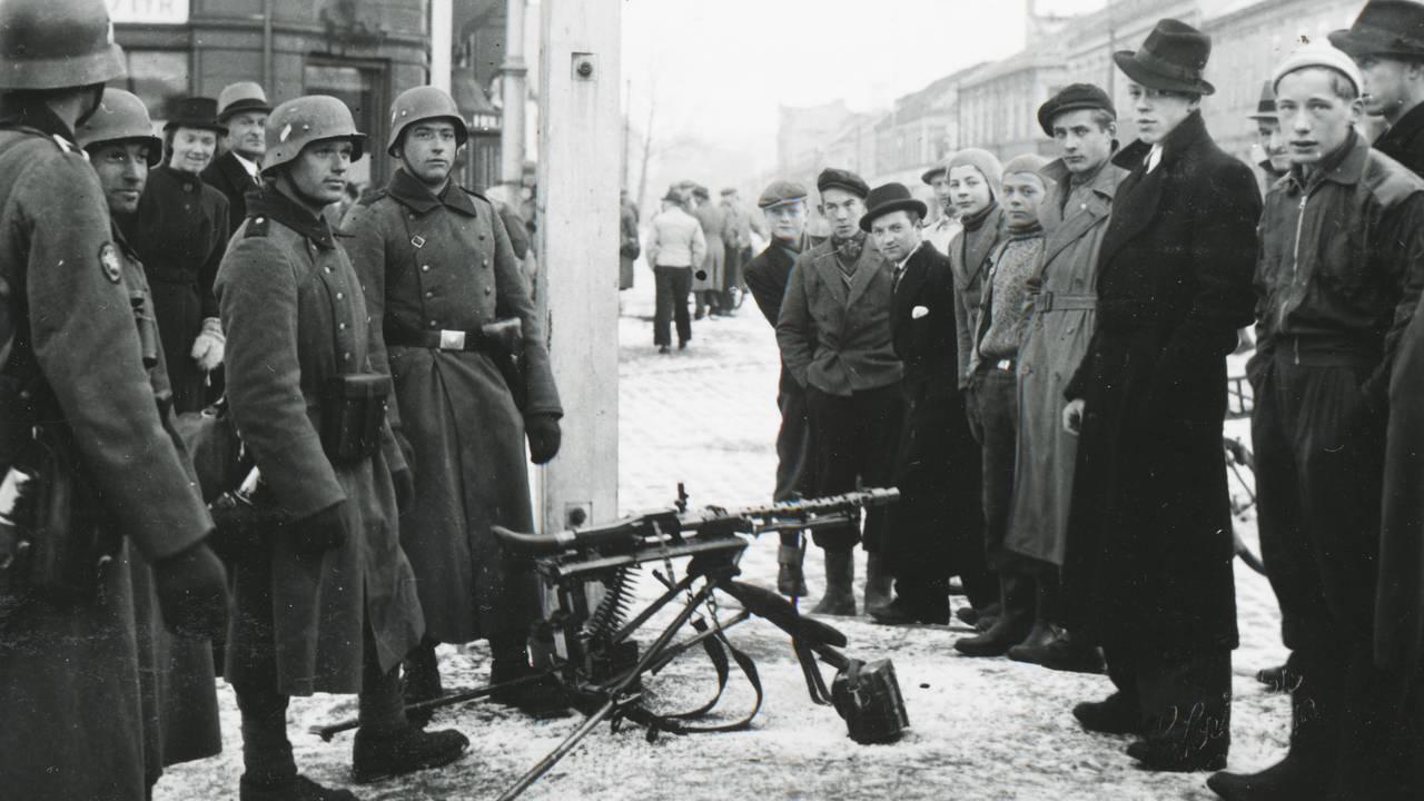 Tyske soldater har gått i land i Trondheim, 9.april 1940